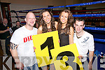 Ring Girls & Corner Men at the White Collar Boxing Night in The Ring of Kerry Hotel pictured l-r; Paul Osborne, Aoife Clifford, Leanne King & Paudie O'Neill.