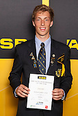 Boys Rowing winner Adam Smith from Auckland Grammar School. ASB College Sport Young Sportsperson of the Year Awards held at Eden Park, Auckland, on November 24th 2011.