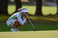 Pernilla Lindberg (SWE) lines up her putt on 1 during round 1 of the 2019 US Women's Open, Charleston Country Club, Charleston, South Carolina,  USA. 5/30/2019.<br /> Picture: Golffile | Ken Murray<br /> <br /> All photo usage must carry mandatory copyright credit (© Golffile | Ken Murray)