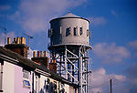 A753H4 Water tower and houses Clacton Essex England