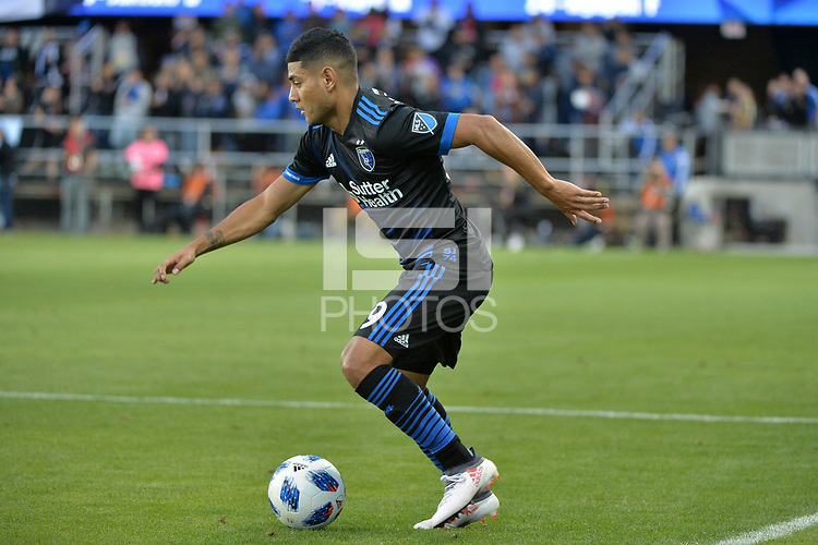 San Jose, CA - Saturday June 09, 2018: \Kevin Partida during a Major League Soccer (MLS) match between the San Jose Earthquakes and Los Angeles Football Club at Avaya Stadium.