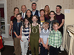 Thomas and Mary McElearney celebrating their 50th wedding anniversary in the Fishermans with all their grandchildren. Photo:Colin Bell/pressphotos.ie