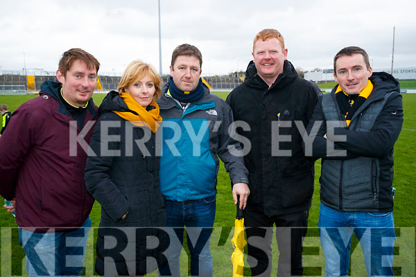 Pictured at the Garvey's Senior Football Championship, Dr Crokes v South Kerry, at the Austin Stack Park, Tralee on Sunday last, were l-r: Cormac Foley, Grace Ahern, Pat Ahern, John O'Callaghan and James Foley.