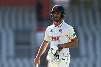 Essex skipper Ryan ten Doeschate leaves the field having been dismissed during Lancashire CCC vs Essex CCC, Specsavers County Championship Division 1 Cricket at Emirates Old Trafford on 11th June 2018