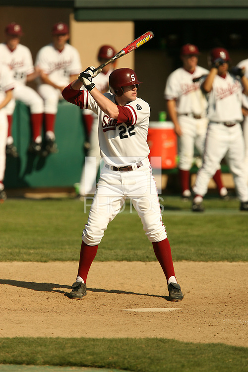 14 October 2007: Stanford Cardinal Stephen Brown during Stanford's 10-3 win in the Alumni game at Sunken Diamond in Stanford, CA.