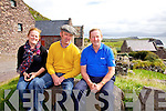 A very relaxed Taoiseach Enda Kenny pictured here at the Cill Rialaig artists retreat on Bolus Head, Co. Kerry with Sarah and Maurice O'Connell direct descendants of Daniel O'Connell The Liberator.