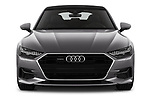 Car photography straight front view of a 2018 Audi A7 Sportback S Line 5 Door Hatchback