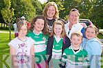 Fiona O'Carroll, Mary Doyle, Aisling Doyle, Laura Corlett, Ciara Carroll, Daniel Carroll and Eve Coffey enjoying the Killarney Legion walk in Muckross on Saturday.