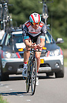 SITTARD, NETHERLANDS - AUGUST 16: Grégory Rast of Switzerland riding for Radioshack-Leopard competes during stage 5 of the Eneco Tour 2013, a 13km individual time trial from Sittard to Geleen, on August 16, 2013 in Sittard, Netherlands. (Photo by Dirk Markgraf/www.265-images.com)