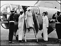 BNPS.co.uk (01202 558833)<br /> Pic: &copy;Crown/QueensFlightArchive<br /> <br /> The Queen Mother leaving a Westland Dragonfly in the 1950's.<br /> <br /> A new book gives an intimate look behind the scenes of the Royal Flight and also the flying Royals.<br /> <br /> Starting in 1917 the book charts in pictures the 100 year evolution of first the King's Flight and then later the Queen's Flight as well as the Royal families passion for aviation.<br /> <br /> Author Keith Wilson has had unprecedented access to the Queen's Flight Archives to provide a fascinating insight into both Royal and aeronautical history.