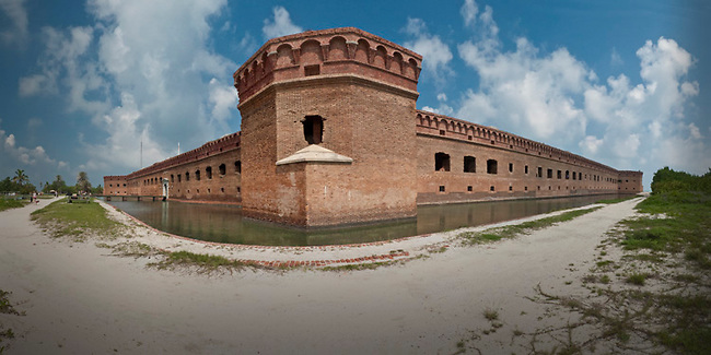 Panoramic of Fort Jefferson at Dry Tortugas National Park