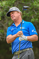Charley Hoffman (USA) watches his tee shot on 14 during Round 3 of the Valero Texas Open, AT&amp;T Oaks Course, TPC San Antonio, San Antonio, Texas, USA. 4/21/2018.<br /> Picture: Golffile | Ken Murray<br /> <br /> <br /> All photo usage must carry mandatory copyright credit (&copy; Golffile | Ken Murray)