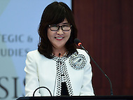 Washington, DC - September 15, 2016: Japanese defense minister Tomomi Inada talks about the evolving Japan-U.S. alliance during a discussion at the Center for Strategic and International Affairs in the District of Columbia, September 15, 2016  (Photo by Don Baxter/Media Images International)