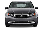 Straight front view of a 2014 Honda Odyssey EX-L