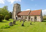 Village parish church of Saint Peter and Saint Paul, Alpheton, Suffolk, England, UK