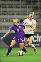 Orlando, FL - Saturday August 12, 2017: Danica Evans, Sarah Killion during a regular season National Women's Soccer League (NWSL) match between the Orlando Pride and Sky Blue FC at Orlando City Stadium.