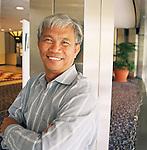 Dith Pran 2001. Photo by Lia Chang