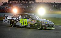 Nov. 16, 2008; Homestead, FL, USA; NASCAR Sprint Cup Series driver Jimmie Johnson during the Ford 400 at Homestead Miami Speedway. Mandatory Credit: Mark J. Rebilas-