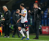 Bolton Wanderers' manager Phil Parkinson issues instructions to Christian Doidge <br /> <br /> Photographer Andrew Kearns/CameraSport<br /> <br /> The EFL Sky Bet Championship - Bolton Wanderers v Wigan Athletic - Saturday 1st December 2018 - University of Bolton Stadium - Bolton<br /> <br /> World Copyright © 2018 CameraSport. All rights reserved. 43 Linden Ave. Countesthorpe. Leicester. England. LE8 5PG - Tel: +44 (0) 116 277 4147 - admin@camerasport.com - www.camerasport.com