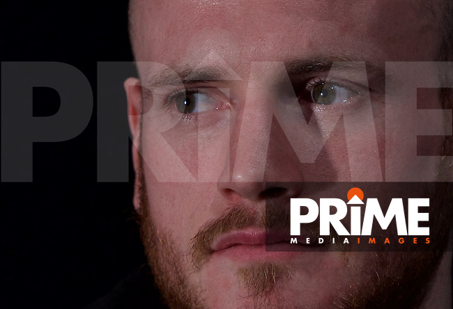 George Groves during the final press conference ahead of the George Groves v Andrea Di Luisa fight set for Saturday 30th January 2016 at the Copper Box, at Stratford Circus, Theatre Square, England on 28 January 2016. Photo by Alan  Stanford/PRiME Media Images.