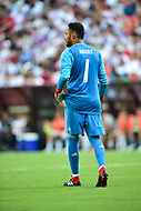 Landover, MD - August 4, 2018: Real Madrid goalkeeper Keylor Navas (1) during the match between Juventus and Real Madrid at FedEx Field in Landover, MD.   (Photo by Phillip Peters/Media Images International)