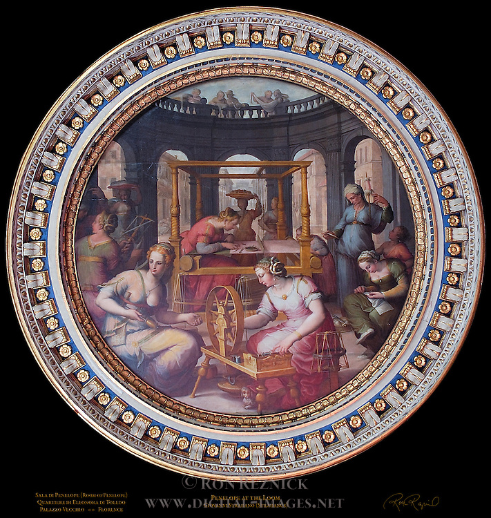 Penelope at the Loom Stradano Sala di Penelope Apartment of the Elements Palazzo Vecchio Florence