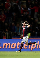 Calcio, Serie A: Bologna, stadio Renato Dall'Ara, 19 settembre 2017.<br /> Bologna's Simone Verdi celebrates after scoring during the Italian Serie A football match between Bologna and Inter Milan at Bologna's Renato Dall'Ara stadium, September 19, 2017.<br /> UPDATE IMAGES PRESS/Isabella Bonotto