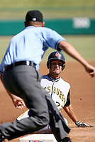 Shelby Ford / Scottsdale Scorpions 2008 Arizona Fall League slides safely into third base for a triple in a game against the Mesa Solar Sox in Mesa, AZ - 10/14/2008..Photo by:  Bill Mitchell/Four Seam Images
