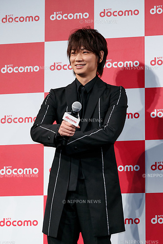 Actor Go Ayano attends  the launch event for 8 new mobile devices for the summer lineup on May 24, 2017, Tokyo, Japan. DOCOMO introduced seven new smartphones and one tablet along with a new app and service plans. (Photo by Rodrigo Reyes Marin/AFLO)