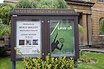 Nexus Methodist Church sign, Walcot, Bath, England