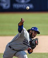 Pedro Baez. <br /> Acciones del partido de beisbol, Dodgers de Los Angeles contra Padres de San Diego, tercer juego de la Serie en Mexico de las Ligas Mayores del Beisbol, realizado en el estadio de los Sultanes de Monterrey, Mexico el domingo 6 de Mayo 2018.<br /> (Photo: Luis Gutierrez)