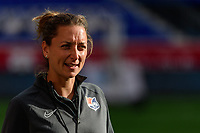 HARRISON, NJ - SEPTEMBER 29: Sky Blue FC interim head coach Freya Coombe during a game between Orlando Pride and Sky Blue FC at Red Bull Arena on September 29, 2019 in Harrison, New Jersey.