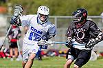 Corona Del Mar, CA 04/06/10 - David Ehlers (Danville/Monte Vista #10) and Connor Canale (Corona Del Mar #17) in action during the Corona Del Mar-Danville/Monte Vista lacrosse game.