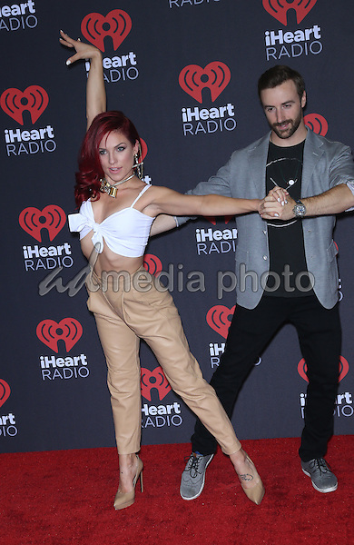 23 September 2016 - Las Vegas, NV -  Sharna Burgess, James Hinchcliffe.  2016 iHeart Radio Music Festival Photo Room at T-Mobile Arena.  Photo Credit: MJT/AdMedia