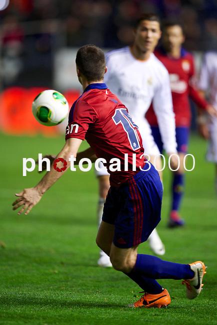 MADRID. ESPAÑA. FÚTBOL.<br /> Football match during La Copa del Rey (Spain);  04/01/2014.<br /> En la imagen :<br /> 15Oier (CA Osasuna)