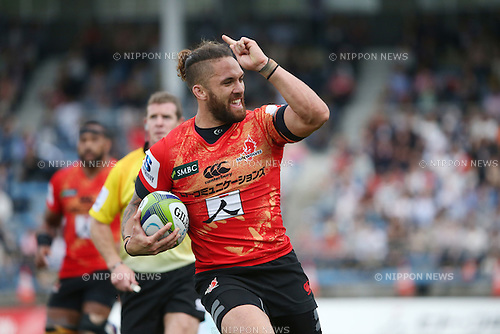 Derek Carpenter (Sunwolves),<br /> APRIL 23, 2016 - Rugby : Super Rugby match between Sunwolves 36-28 Jaguares at Prince Chichibu Memorial Stadium in Tokyo, Japan. (Photo by AFLO SPORT)