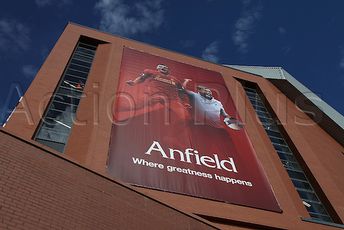 10.09.2016. Anfield, Liverpool, England. Premier League Football. Liverpool versus Leicester. A view of the newly completed main stand. Liverpool's first game at Anfield since the opening of the new £114 million main stand, which raises the stadium capacity to 54,167