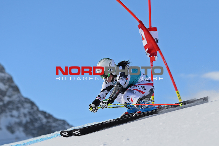 ST MORITZ, SWITZERLAND - DECEMBER 15:  Stefanie Koehle of Austria during the Audi FIS Alpine Ski World Cup giant slalom race on December 15 2013 in St Moritz, Switzerland. <br /> Foto nph / Gunn