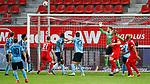 09.06.2020, xtgx, Fussball 3. Liga, Hallescher FC - SV Waldhof Mannheim emspor, v.l. Sebastian Mai (Halle, 26) kopfball verfehlt das tor  beim Spiel in der 3. Liga, Hallescher FC - SV Waldhof Mannheim.<br /> <br /> Foto © PIX-Sportfotos *** Foto ist honorarpflichtig! *** Auf Anfrage in hoeherer Qualitaet/Aufloesung. Belegexemplar erbeten. Veroeffentlichung ausschliesslich fuer journalistisch-publizistische Zwecke. For editorial use only. DFL regulations prohibit any use of photographs as image sequences and/or quasi-video.