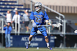 08 February 2015: Air Force's Danny Brown. The Duke University Blue Devils hosted the United States Air Force Academy Falcons at Koskinen Stadium in Durham, North Carolina in a 2015 NCAA Division I Men's Lacrosse match. Duke won the game 13-7.