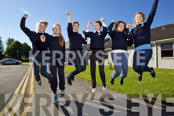 Three sets of twins who are students of Presentation secondary school in Tralee who are sitting the leaving cert next week, From left:  Lorna and Shanon Canty, Siona and Sophie Wolff and Yvonne and Nichola McCarthy.