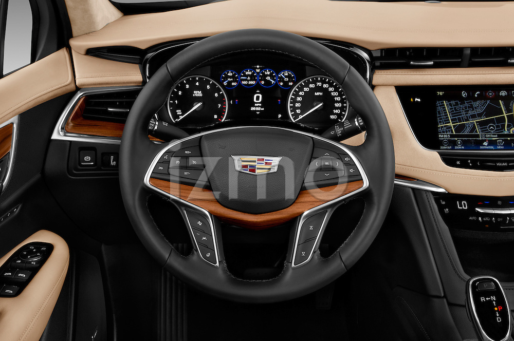 Car pictures of steering wheel view of a 2017 Cadillac XT5 AWD-Platinum 5 Door SUV Steering Wheel