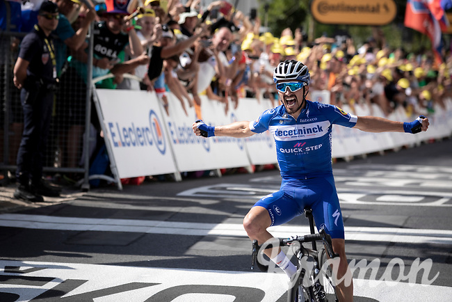 Julian Alaphilippe (FRA/Deceuninck - Quick-Step) wins Stage 3 from Binche (BEL) to Épernay (FRA)(214km) & becomes the new GC-leader (thus: yellow jersey!)<br /> <br /> 106th Tour de France 2019 (2.UWT)<br /> <br /> ©kramon