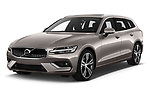 2019 Volvo V60 Inscription 5 Door Wagon angular front stock photos of front three quarter view