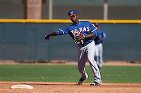Texas Rangers Juremi Profar (24) during an instructional league game against the San Diego Padres on October 9, 2015 at the Surprise Stadium Training Complex in Surprise, Arizona.  (Mike Janes/Four Seam Images)