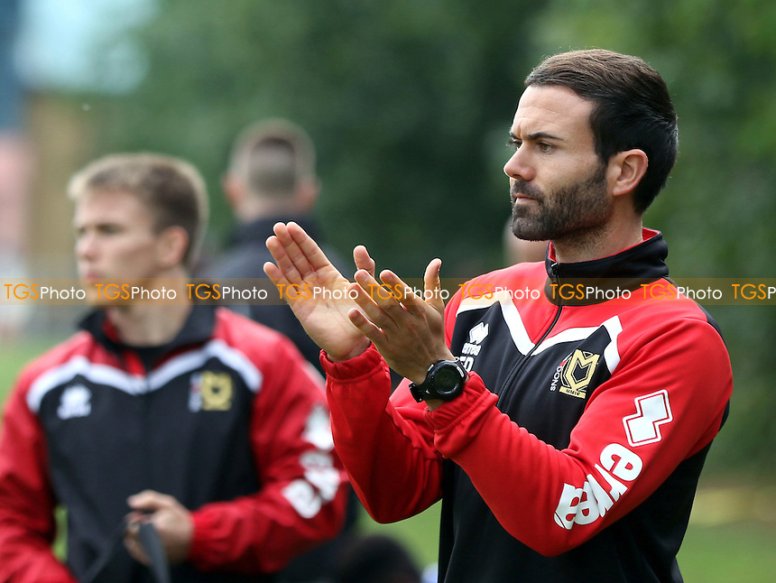 Edu Rubio, MK Dons Head of Academy Coaching during Gillingham Under-18 vs Milton Keynes Dons Under-18, EFL Youth Alliance Football at Beechings Cross, Gillingham FC Training Ground on 8th October 2016