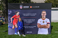 CHICAGO, IL - OCTOBER 06: Concussion Awareness display during a game between the USA and Korea Republic at Soldier Field, on October 06, 2019 in Chicago, IL.