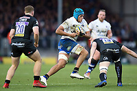 Zach Mercer of Bath Rugby in possession. Aviva Premiership match, between Exeter Chiefs and Bath Rugby on December 2, 2017 at Sandy Park in Exeter, England. Photo by: Patrick Khachfe / Onside Images