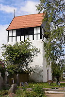 Romanische Ibs Kirke (11./12. Jh.) in Ibsker auf der Insel Bornholm, D&auml;nemark, Europa<br /> Romanesque Ibs Kirke (11./12.c.) in Ibsker, Isle of Bornholm Denmark