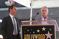 LOS ANGELES, CA - SEPTEMBER 13: Eric McCormack, Michael Douglas, at the Hollywood Walk Of Fame Ceremony honoring Eric McCormack in Los Angeles, California on September 13, 2018. <br /> CAP/MPIFS<br /> &copy;MPIFS/Capital Pictures